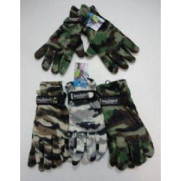 Men's Camo Fleece Glove-Thermal Insulate 24 pack