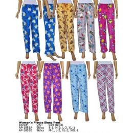Ladies Fleece Lounge Pants 96 pack