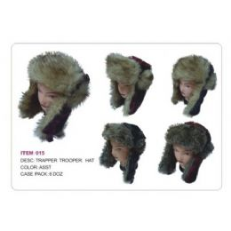 Trapper Trooper Hat With faux Fur Heavy Duty 36 pack