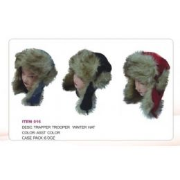 Trapper Trooper Hat With faux Fur 72 pack