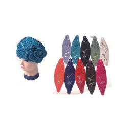 Ladies Ear Warmers With Flower 120 pack