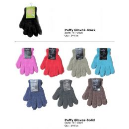 Fuzzy Glove In Black Only 144 pack