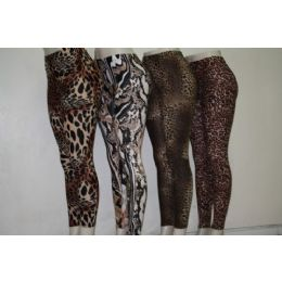 Ladies Animal Print Legging 72 pack