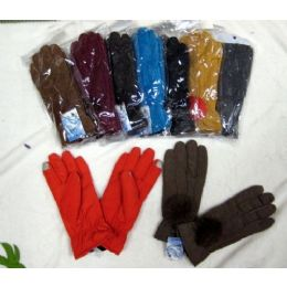 Ladies Touch Screen Winter Glove With Pom Pom 48 pack