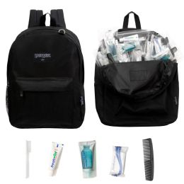 12 Backpacks and 12 Basic Hygiene & Toiletries Kit 12 pack