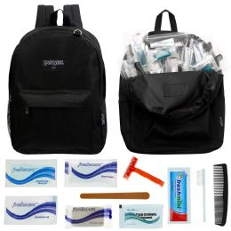12 Backpacks and 12 Deluxe Hygiene & Toiletries Kit 12 pack