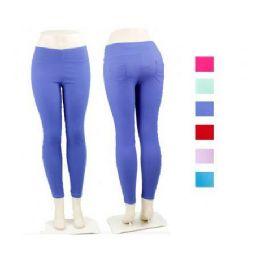 Ladies Black Stretch Pants Leggings 36 pack