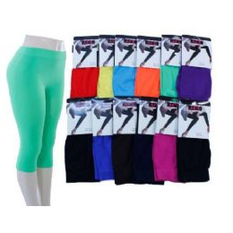 Ladies Bright Color Capri Leggings 60 pack