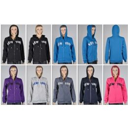 LAIDES ZIPPER HOODIES- NEW YORK 48 pack