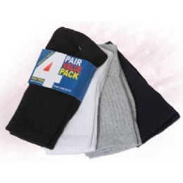 Boys Ankle Sock 4 Pair Value Pack Assorted Colors 48 pack