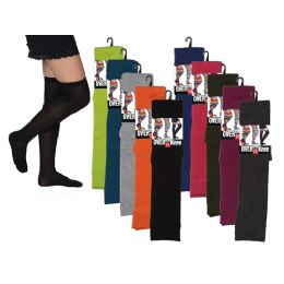 Women Over The Knee Solid Colors 48 pack