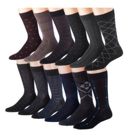 Mens 3 Pack Dress Sock Size 10-13 Assorted Color Only 60 pack