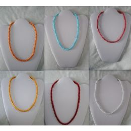 Magnetic handmade Necklace With Round Color beads 48 pack