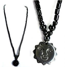 Magnetic Hematite handmade Necklace Sun Pendant 48 pack