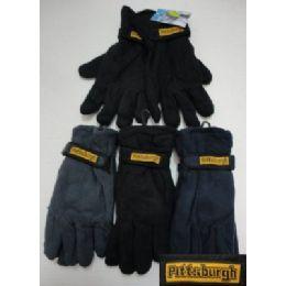Men's Fleece Gloves-Thermal 72 pack