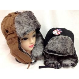 Faux Fur Lined Boomer Hat Unisex Winter Hats 24 pack
