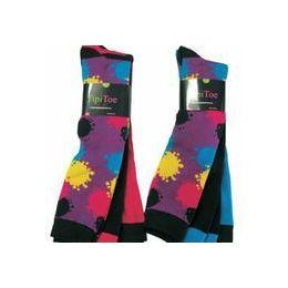 Ladies 3 Pack Splattered Paint Knee High Sock 60 pack
