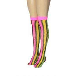 Ladies Knee High Neon Colors 36 pack