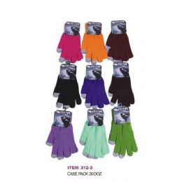 Ladies Assorted Color Touch Screen Gloves 120 pack