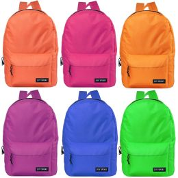 "17"" Bulk Classic Backpacks In 6 Assorted Colors 48 pack"