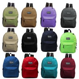 "17"" Kids Basic Backpack In 12 Randomly Assorted Colors 24 pack"