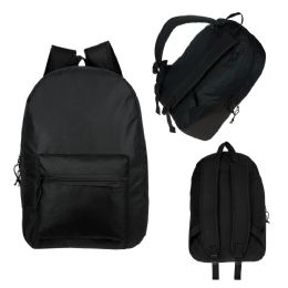 "17"" Kids Basic Black Backpack"