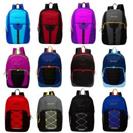 "17"" Mixed Backpack Assortment In 12 Assorted Styles 24 pack"