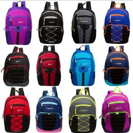 "17"" Mixed Bulk Backpack Assortment In 12 Assorted Styles 24 pack"