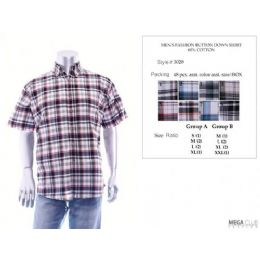 Mens Fashion Button Down Shirts 60% Cotton Size Scale B Only 48 pack