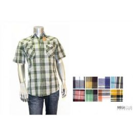 Button Down Fashion S/s Shirts Size Scale B Only 48 pack