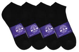 Yacht & Smith Men's No Show Ankle Socks, Cotton. Size 10-13 Black Bulk Pack 60 pack