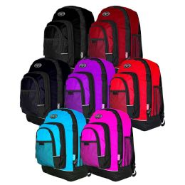 "18"" Backpacks With Mesh Pockets In 7 Assorted Colors 24 pack"