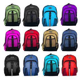 "18"" Premium Bulk Backpacks in 12 Assorted Styles 24 pack"