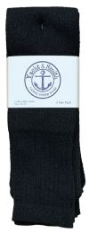 Yacht & Smith Men's Cotton 31 Inch Tube Socks, Referee Style, Size 10-13 Solid Black Bulk Buy