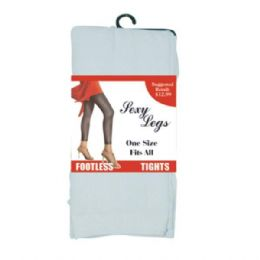 Footless Tights One Size White Only (144/cs) 144 pack