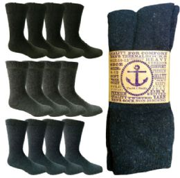 Yacht & Smith Men's Winter Thermal Crew Socks Size 10-13 180 pack