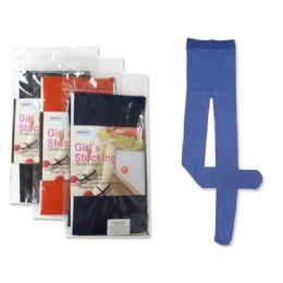 STOCKING GIRL'S 9-11 YRS LARGASST CLR 288 pack