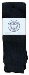 Yacht & Smith Men's Cotton 31 Inch Tube Socks, Referee Style, Size 10-13 Solid Black Bulk Buy