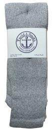 Yacht & Smith Men's Cotton 28 Inch Tube Socks, Referee Style, Size 10-13 Solid Gray Bulk Buy