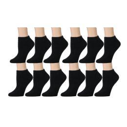 Yacht & Smith Kids Cotton Quarter Ankle Socks In Black Size 6-8