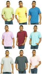 Yacht & Smith Mens Assorted Color Slub T Shirt With Pocket - Size S