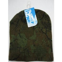 Hardwood Camo Knitted Beanie 12 pack