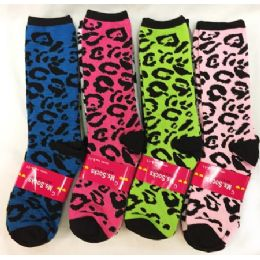 Lady's Girls' Long socks Leopard Prints Assorted 120 pack