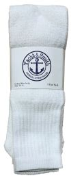 Yacht & Smith Men's 22Inch Cotton Tube Socks, Referee Style, Size 10-13 Solid White 120 pack