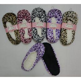 Fleece-Lined Footies [Leopard Print] 24 pack