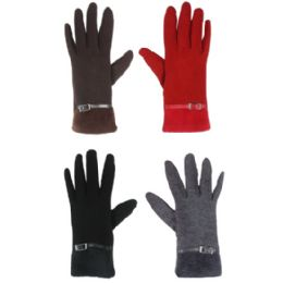 TOUCH SCREEN GLOVES LADIES ASSORTED COLOR 36 pack