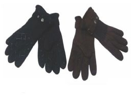 Mens Fleece Winter Gloves Dark Colors 72 pack