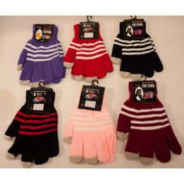 Texting Gloves Lady's Size Assorted Color 60 pack