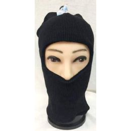 Unisex Black Ski Hat/Mask One size fits ALL 72 pack