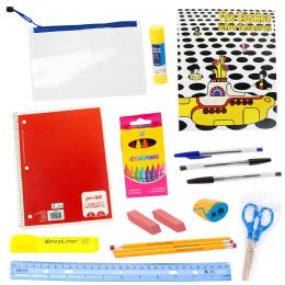 20 Piece Wholesale Kids School Supplies Kit